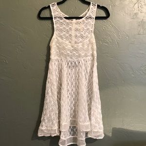Free People New Romantics Lace Dress Sheer